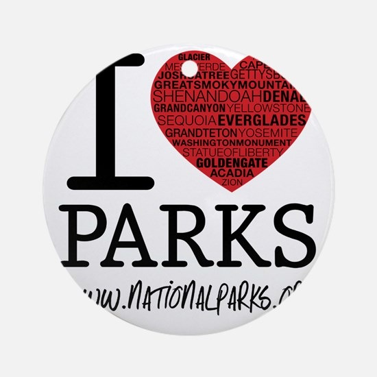 heart parks Round Ornament