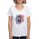 Patriotic Guy Women's V-Neck T-Shirt