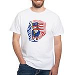 Patriotic Guy White T-Shirt