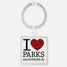 heart parks Square Keychain