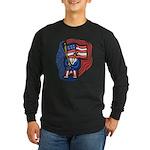 Patriotic Guy Long Sleeve Dark T-Shirt