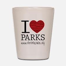 heart parks Shot Glass
