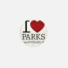 heart parks Mini Button