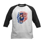 Patriotic Guy Kids Baseball Jersey