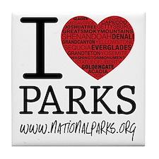 heart parks Tile Coaster