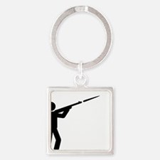 Skeet-Shooting-A Square Keychain