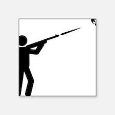 "Skeet-Shooting-A Square Sticker 3"" x 3"""