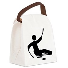 Sled-Hockey-A Canvas Lunch Bag