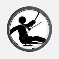 Sled-Hockey-A Wall Clock