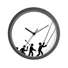 Stunt-Kiting-C Wall Clock