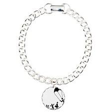 Parachuting-E Charm Bracelet, One Charm