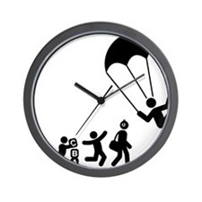 Parachuting-E Wall Clock