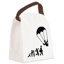 Parachuting-E Canvas Lunch Bag