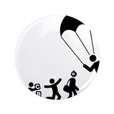 """Parachuting-E 3.5"""" Button"""
