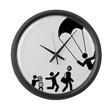 Parachuting-E Large Wall Clock
