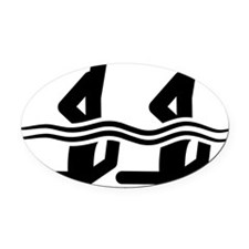 Synchronized-Swimming-A Oval Car Magnet