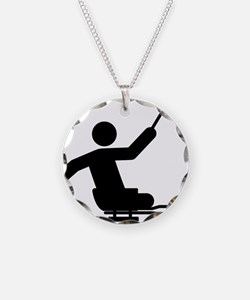 Physically-Challenge-Sled-Ho Necklace