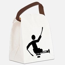Physically-Challenge-Sled-Hockey- Canvas Lunch Bag
