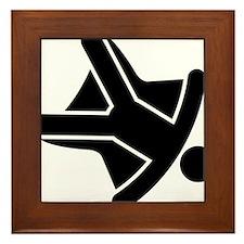 Skydiving-A Framed Tile