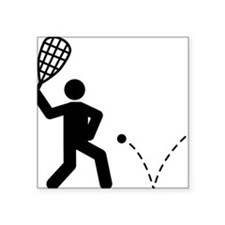 "Racquetball-A Square Sticker 3"" x 3"""