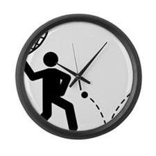 Racquetball-A Large Wall Clock