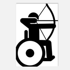 Wheelchair-Archery-A Postcards (Package of 8)