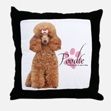Poodle Throw Pillow
