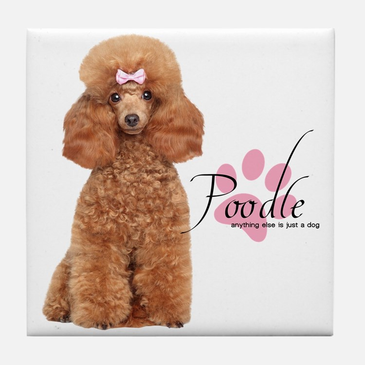 Poodle Tile Coaster