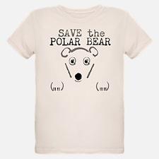 Organic Kids Save The Polar Bear T-Shirt