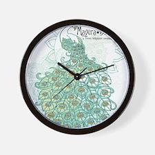 Mayura Blue - Nouveau Peacock Wall Clock