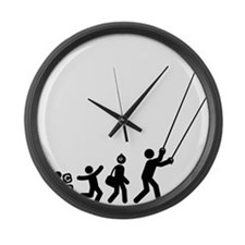 Stunt-Kiting-E Large Wall Clock