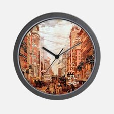 ony_shower_curtain_kl Wall Clock