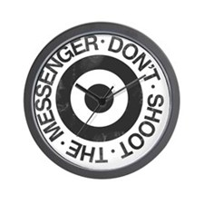 Don't Shoot the Messenger Wall Clock