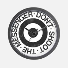 Don't Shoot the Messenger Wall Clock