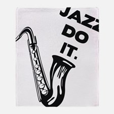 Jazz do it Throw Blanket