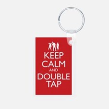 Keep Calm and Double Tap L Keychains
