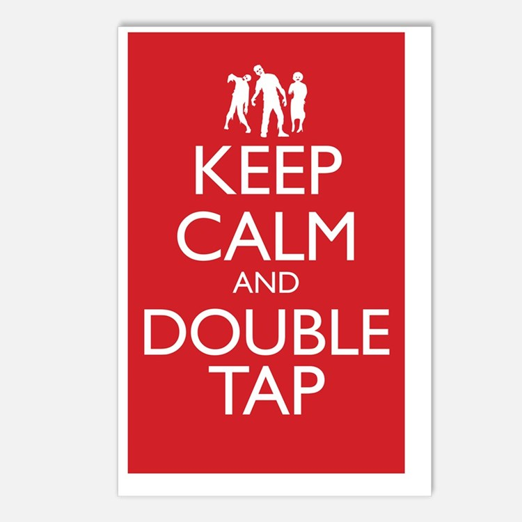 Keep Calm and Double Tap  Postcards (Package of 8)