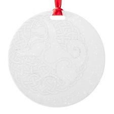 Tattoo ISD final white for black ba Round Ornament