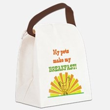My pets make my breakfast Canvas Lunch Bag