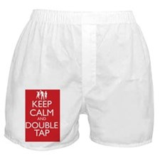 Keep Calm and Double Tap Boxer Shorts