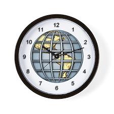 Caged Globe Wall Clock