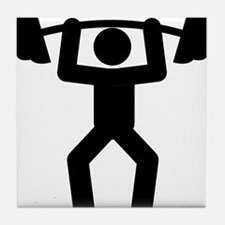 Weightlifting-A Tile Coaster