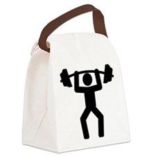 Weightlifting-A Canvas Lunch Bag