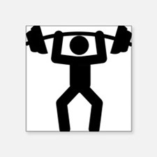 """Weightlifting-A Square Sticker 3"""" x 3"""""""