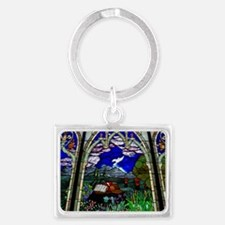 spirit christian stained glass  Landscape Keychain