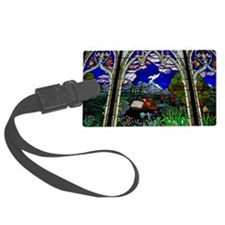 spirit christian stained glass b Luggage Tag