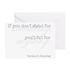 Stand for Something Greeting Card