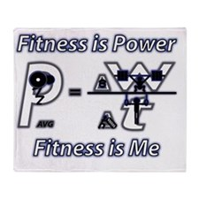 Fitness is Power, Fitness is Me Throw Blanket