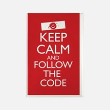 Keep Calm and Follow the Code 23  Rectangle Magnet