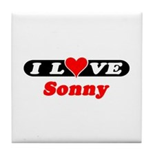 I Love Sonny Tile Coaster